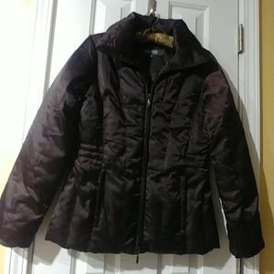 🌹Kenneth Cole Reaction Chocolate Puffer Jacket